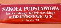 Herb - Szkoła Podstawowa im. ks. Idziego Radziszewskiego w Bratoszewicach