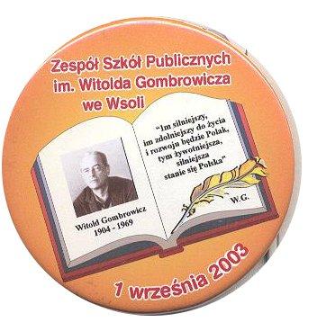 Herb - Zespół Szkół Publicznych  im. Witolda Gombrowicza we Wsoli