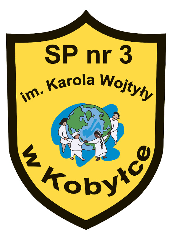 Herb - Publiczna Szkoła Podstawowa z Oddziałami Sportowymi nr 3 im. Karola Wojtyły w Kobyłce