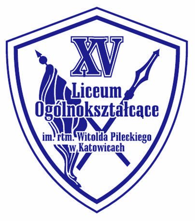 Herb - XV Liceum Ogólnokształcące im. rtm. Witolda Pileckiego w Katowicach