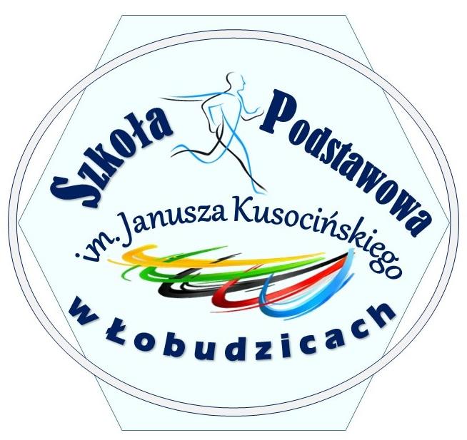 Herb - Szkoła Podstawowa  im. Janusza Kusocińskiego  w Łobudzicach  z Filią w Bujnach Szlacheckich